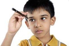 Garçon vilain indien image libre de droits