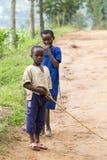 garçons africains Photographie stock libre de droits