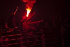 Garçons célébrant l'anniversaire de l'équipe de football de Goztepe Photo stock