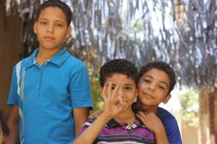 Enfants à Gizeh photo stock