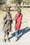 Garçons de Mara de masai Photos libres de droits