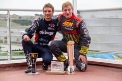 Garçons de Tasse-podium de Rx Lites de FiaWorldRx-podium Images libres de droits