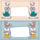 Garçons et filles de lapin de bannière Photos libres de droits