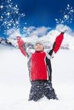 Garçons et neige Photographie stock libre de droits