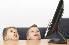 Garçons idiots Photo libre de droits