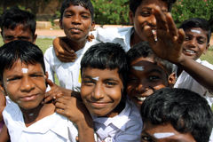 Garçons indiens drôles Photographie stock
