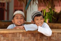Garçons musulmans Photographie stock libre de droits