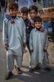 Garçons pakistanais Photographie stock