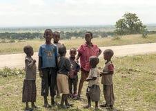 Garçons tanzaniens Photographie stock