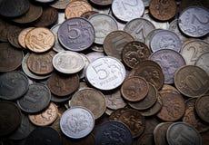 Garść Rosyjscy ruble Zdjęcie Stock