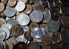 Garść Rosyjscy ruble Zdjęcia Stock