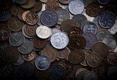 Garść Rosyjscy ruble Zdjęcia Royalty Free