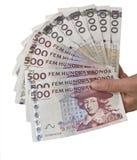 Garść szwedzki pieniądze Zdjęcia Royalty Free