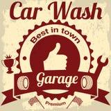 Garaż i samochodowy obmycie ilustracji