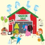 garaż sprzedaż ilustracja wektor
