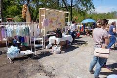 Garaż sprzedaż Gesheft w Odessa Zdjęcie Stock