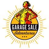 Garaż sprzedaży przygody Obrazy Royalty Free