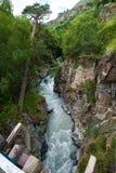 Gara-Auzusu rzeki przepływ fotografia stock
