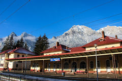 Gara Busteni - Busteni Train Station Royalty Free Stock Photography