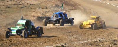 Gara di corsa campestre dell'automobile Fotografia Stock