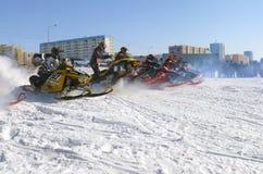 Gara di corsa campestre della neve Fotografie Stock