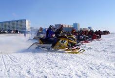 Gara di corsa campestre della neve Immagine Stock