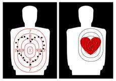 Gara di tiro con un cuore Fotografie Stock Libere da Diritti