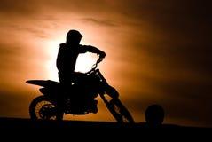 Gara motociclistica su pista Immagini Stock