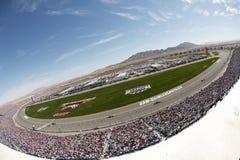 Gara motociclistica su pista del motore di Las Vegas immagini stock