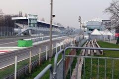 Gara motociclistica su pista di motore di Monza Fotografia Stock