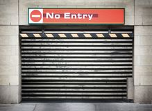 garażu drzwiowy metal Zdjęcie Stock