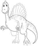 Garabatea el animal de elaboración para el dinosaurio grande stock de ilustración