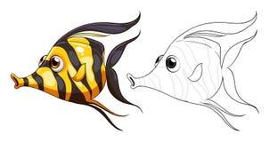 Garabatea el animal de elaboración para los pescados libre illustration