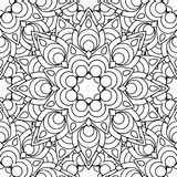 Garabatea el modelo inconsútil de la mandala Imagen de archivo libre de regalías