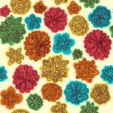 Garabatee el desig inconsútil floral del modelo del fondo del papel pintado del vector Imágenes de archivo libres de regalías