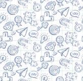 Garabatee el modelo inconsútil del dibujo lineal - vector eps8 Imagen de archivo