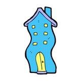 garabato cómico de la casa de la historieta Imagen de archivo libre de regalías