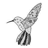 Garabato de Colibri stock de ilustración