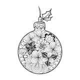 Garabato de la bola de la Navidad stock de ilustración
