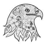 Garabato de la cabeza de Eagle stock de ilustración