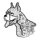 Garabato de la cabeza de perro del boxeador libre illustration