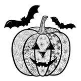 Garabato de la calabaza de Halloween ilustración del vector