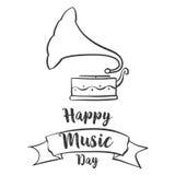Garabato de la celebración del día de la música libre illustration
