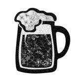 Garabato de la cerveza ilustración del vector
