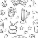 Garabato de la colección del instrumento musical ilustración del vector