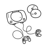 Garabato de la consola del videojuego Foto de archivo libre de regalías