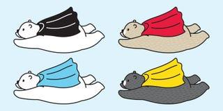 Garabato de la historieta del ejemplo de los cabos del vuelo de la panda del oso polar del icono del logotipo del vector del oso libre illustration