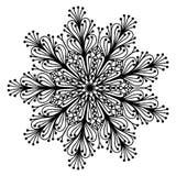 Garabato de la página del colorante de la mandala Imagen de archivo libre de regalías