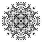 Garabato de la página del colorante de la mandala Imágenes de archivo libres de regalías