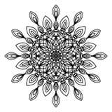 Garabato de la página del colorante de la mandala Foto de archivo libre de regalías